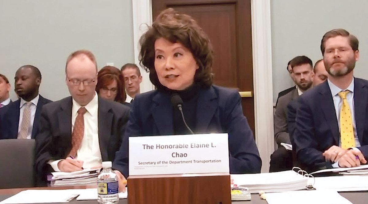 DOT Secretary Elaine Chao
