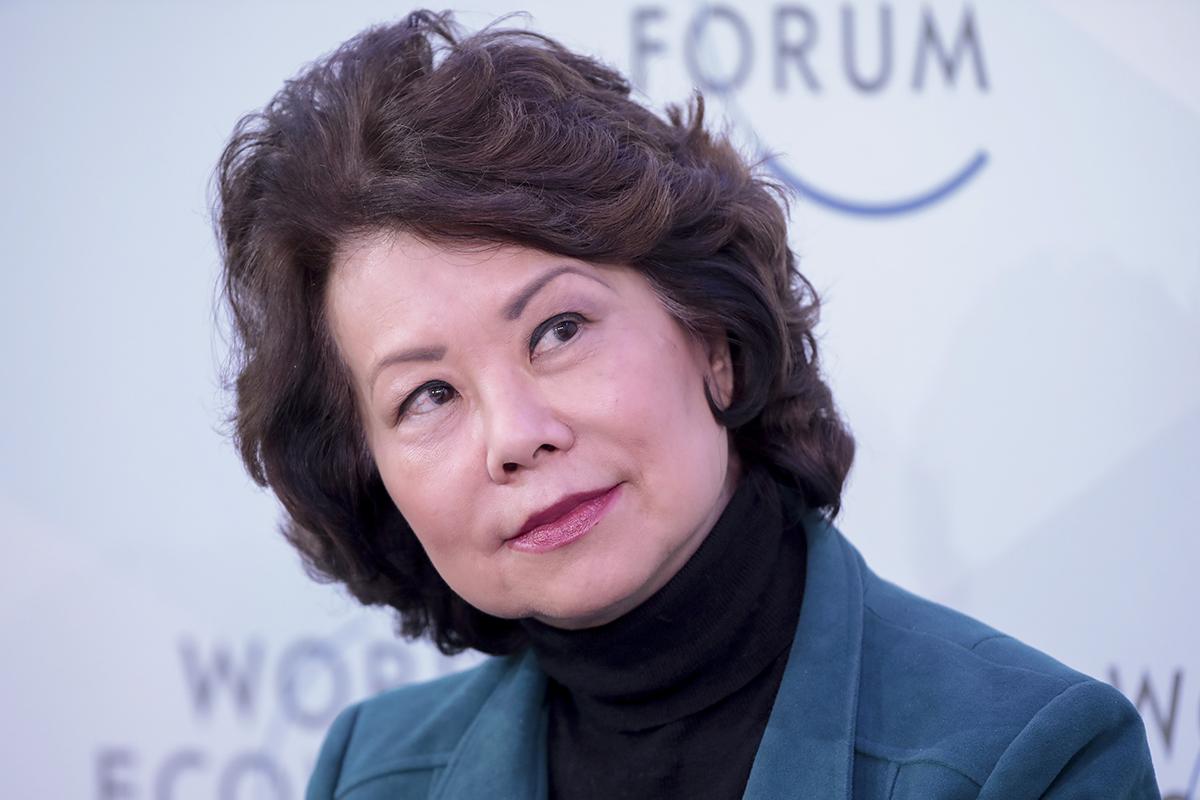 Transportation Secretary Elaine Chao at Davos, Switzerland
