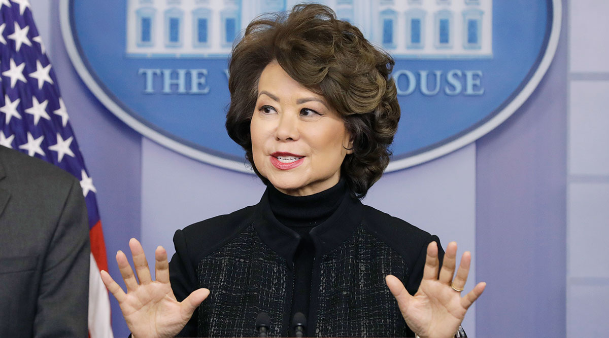 Elaine Chao at the White House