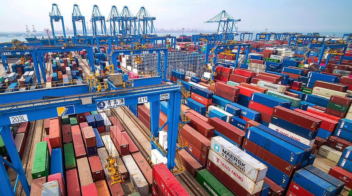 Qingdao port, China