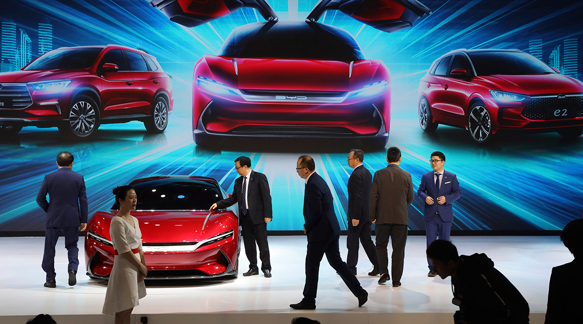 Attendees at BYD at the Auto Shanghai 2019