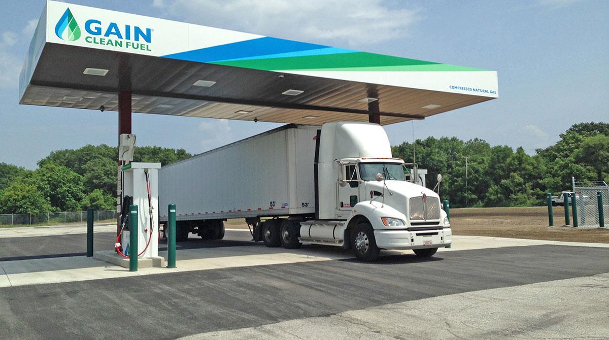 Compressed natural gas station