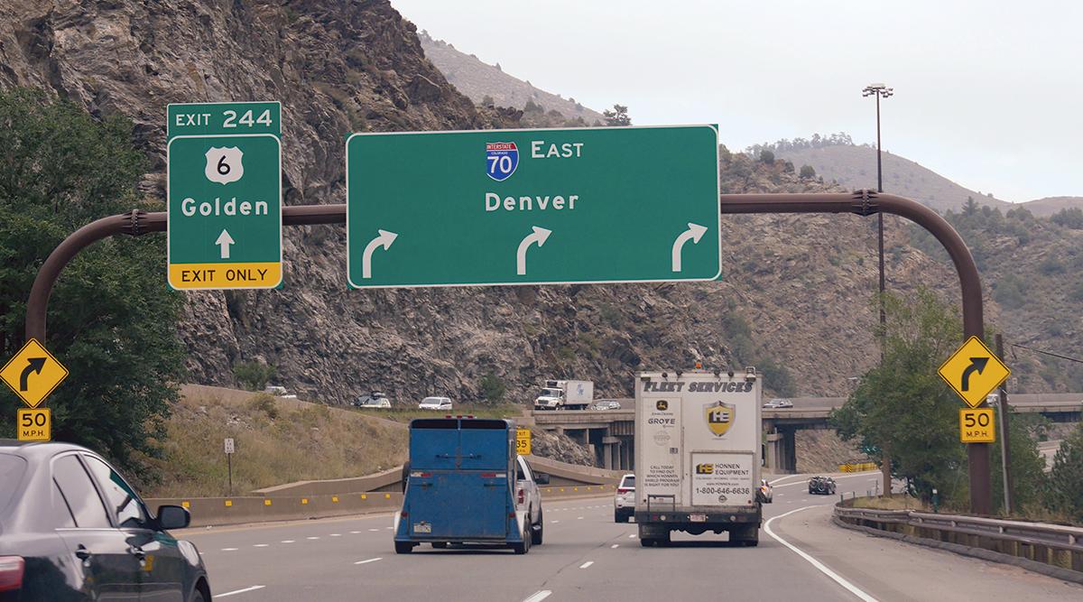 Interstate 70 near Colorado Springs, Colorado
