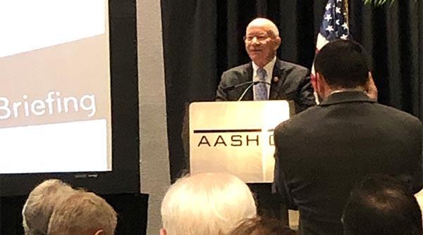 Rep. Peter DeFazio (D-Ore.) speaks at AASHTO