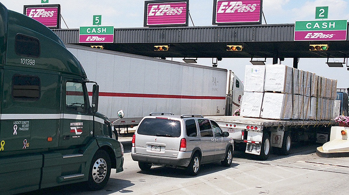 I-95 toll plaza in Connecticut