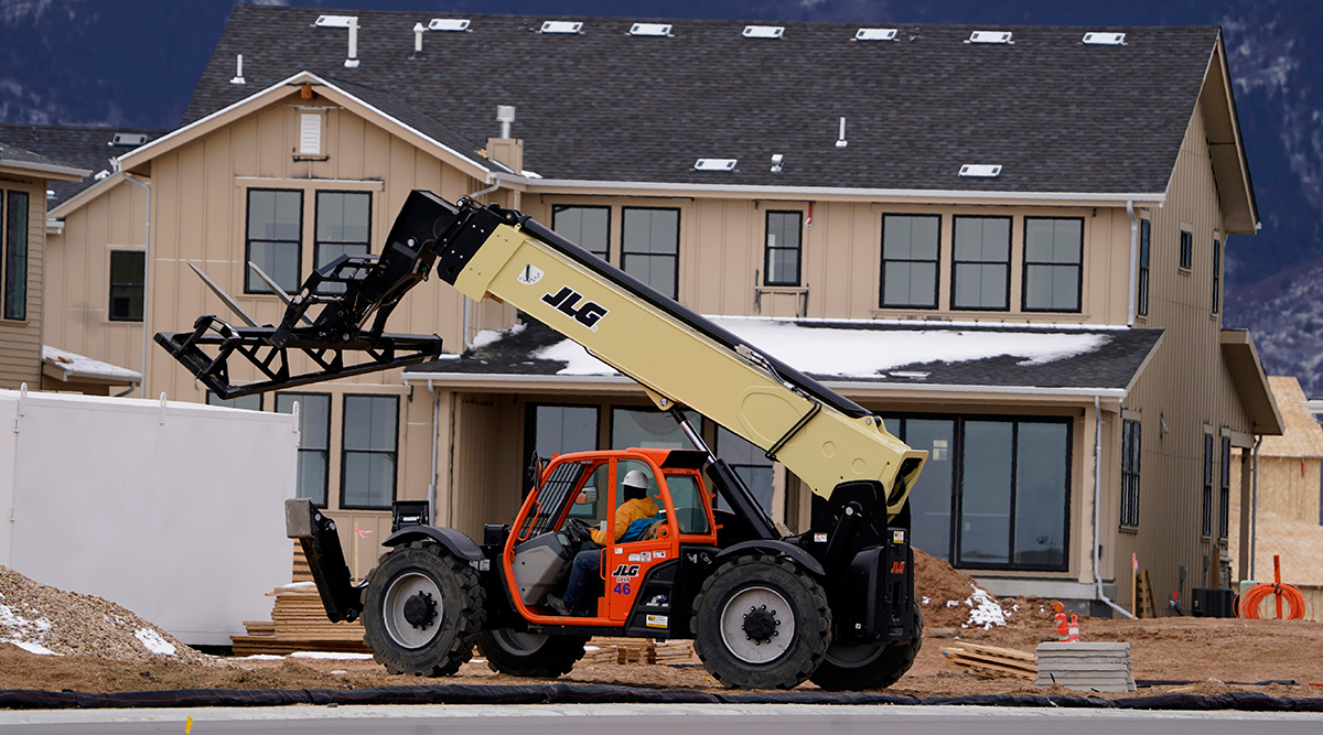 New homes under construction in a development in Littleton, Colo. (David Zalubowski/Associated Press)
