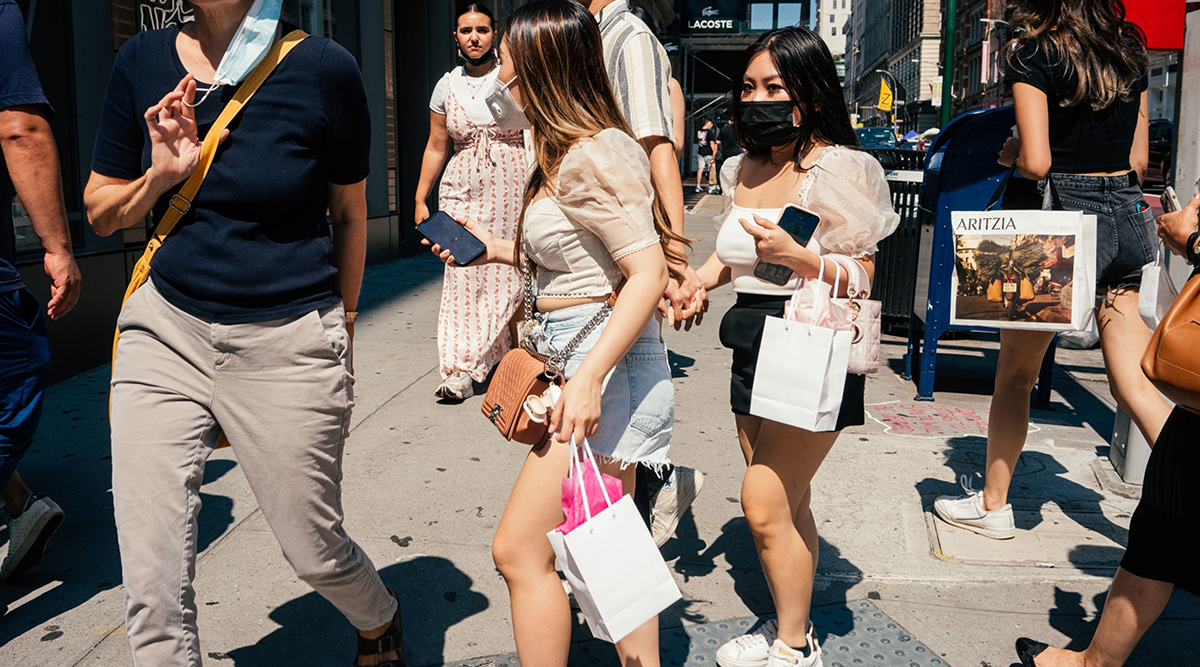 Shoppers in the SoHo neighborhood of New York