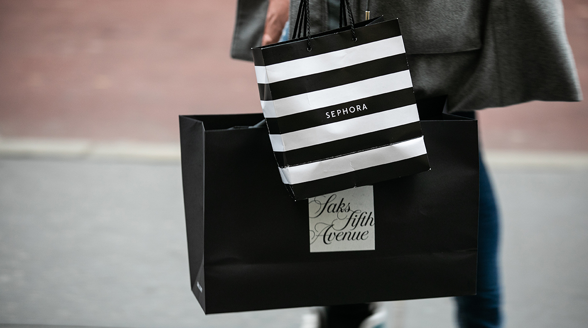 A luxury retail shopper