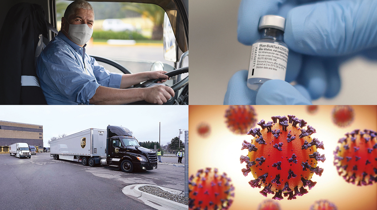 Four pandemic images
