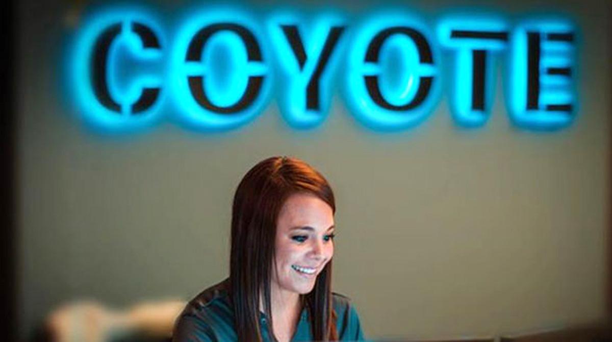 Coyote Logistics sign