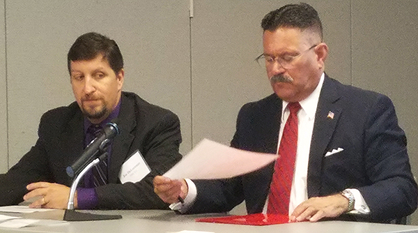 FMCSA's Joe DeLorenzo, left, and Ray Martinez