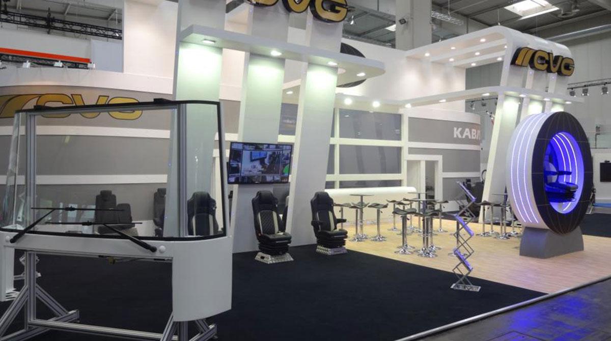 CVGI display at a trade show