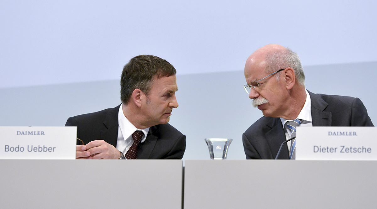 Current Daimler CFO and CEO