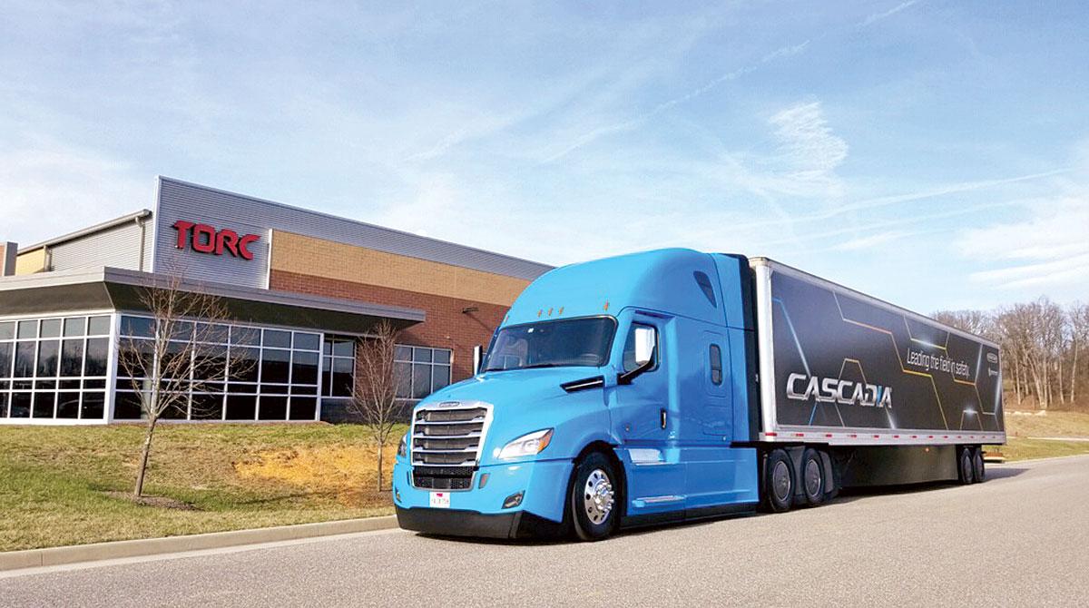 Daimler Cascadia at Torc HQ