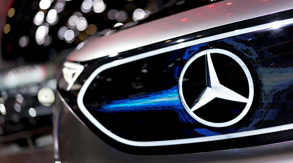 Daimler AG Mercedes-Benz logo on Concept EQA grille