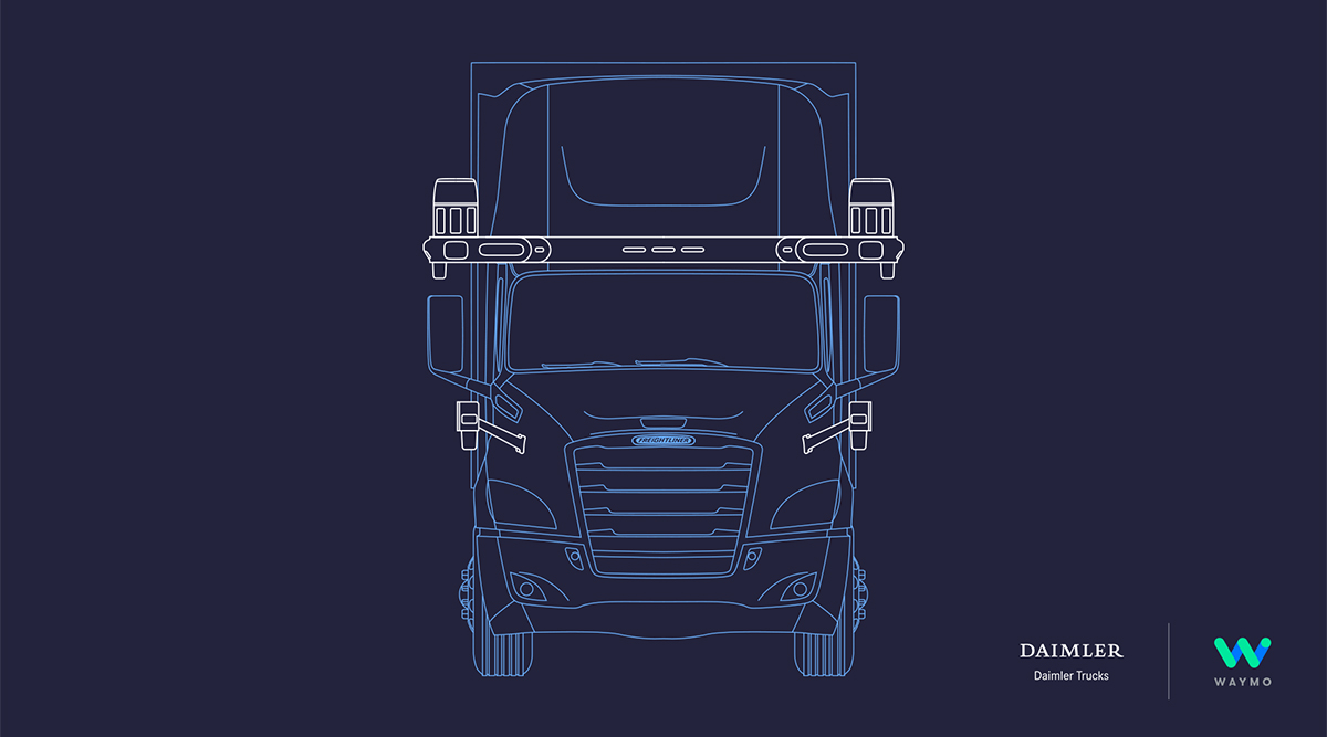 Daimler-Waymo autonomous truck illustration