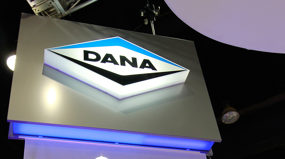 Lighted Dana signage