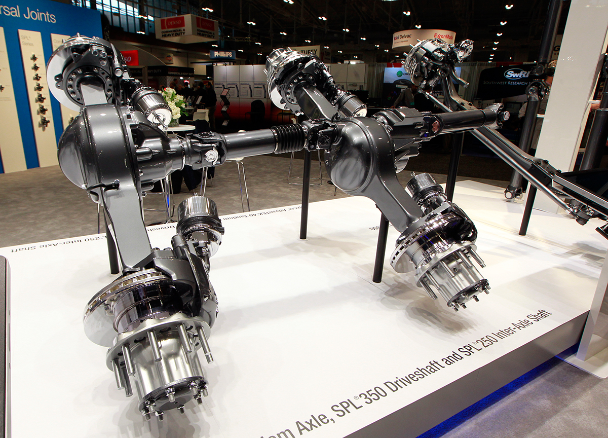 Dana axles at a trucking trade show