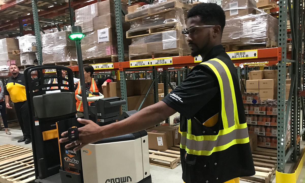 DHL worker at Chicago Innovation Center