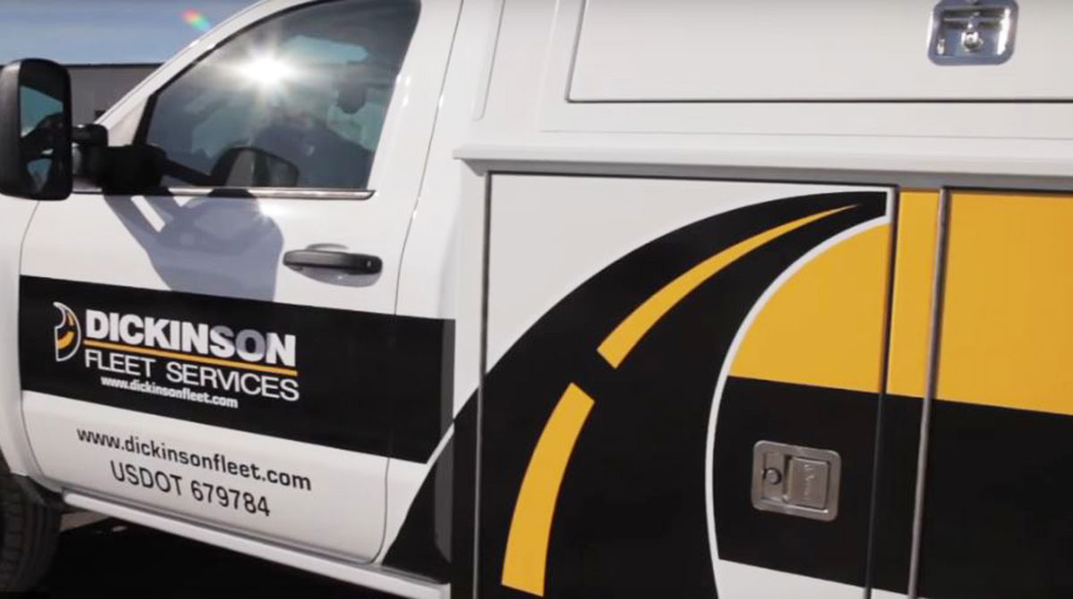 Dickinson Fleet Services truck