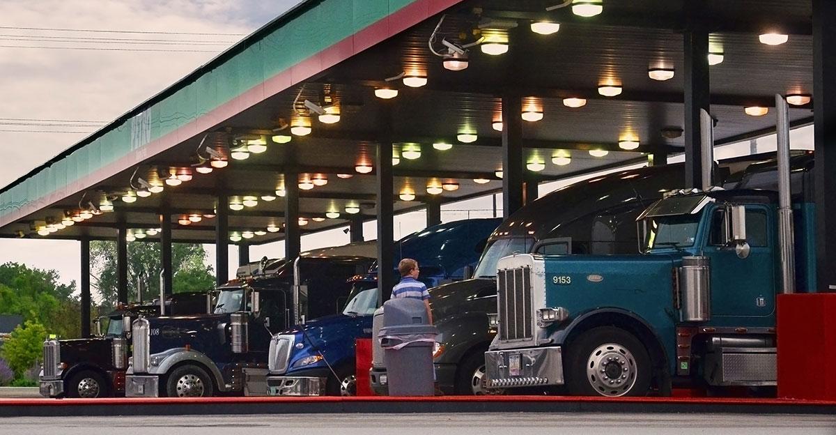 Trucks fuel up at a Petro Stop
