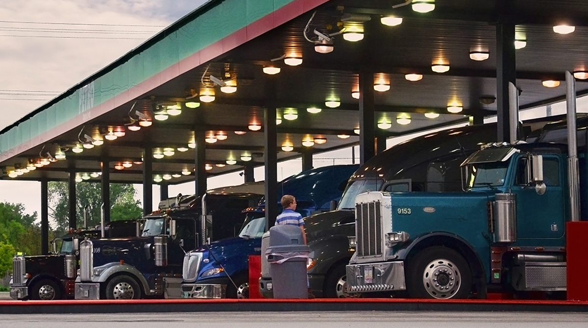 Diesel pumps at Petro truck stop