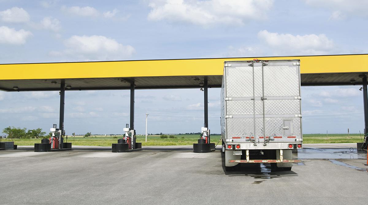 Truck getting diesel