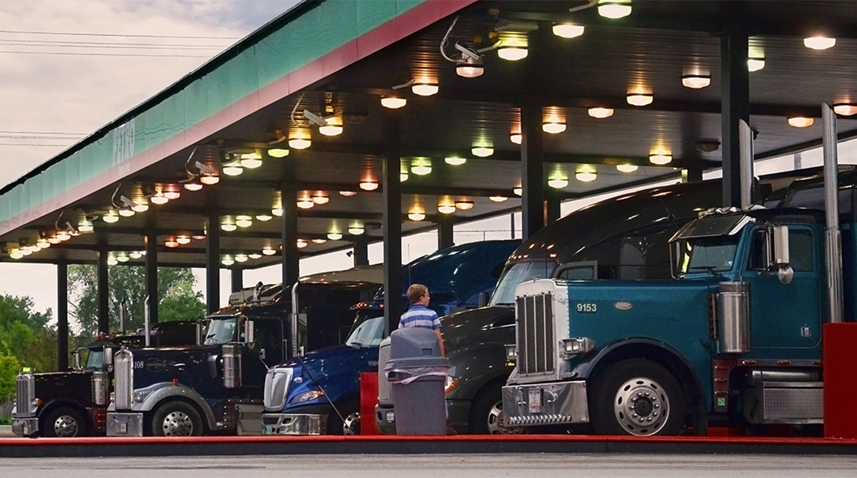 Trucks refuel