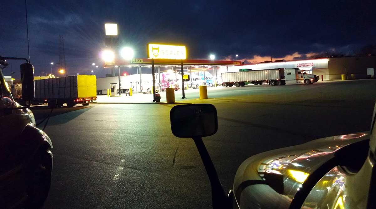 diesel, fuel, truck stop