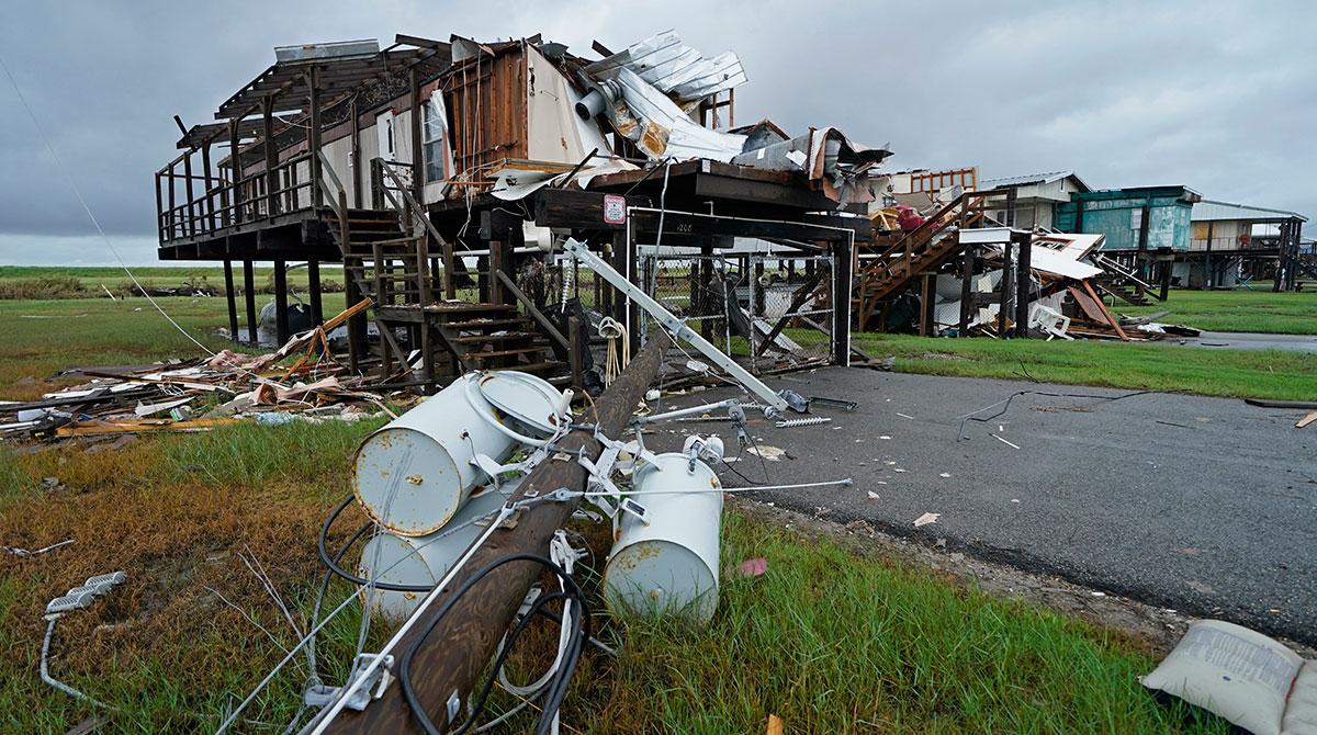 Hurricane Ida damage in Pointe-aux-Chenes, La.