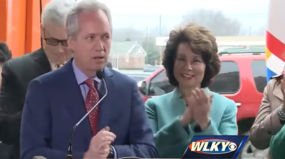 Louisville Mayor Greg Fischer, Transportation Secretary Elaine Chao