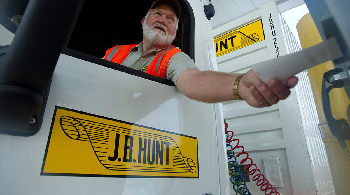 J.B. Hunt driver