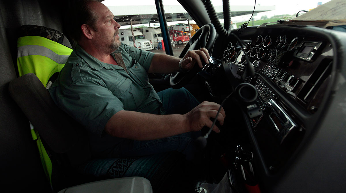 A truck driver in Indiana