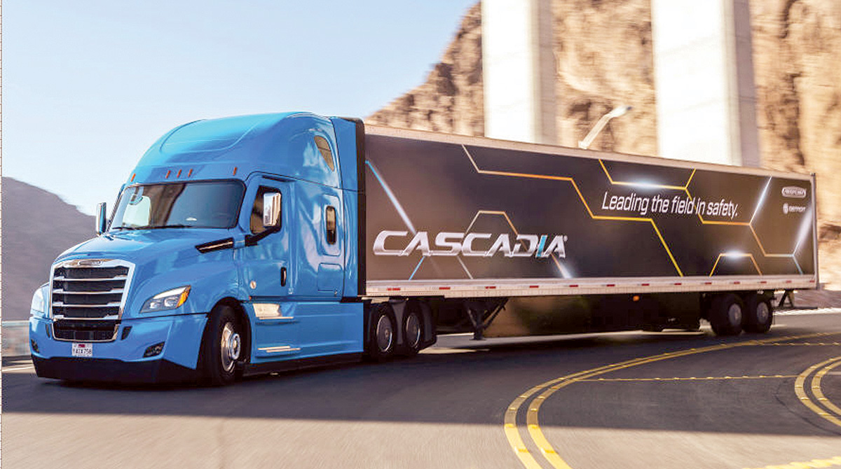 Cascadia featuring SAE Level 2 driving.