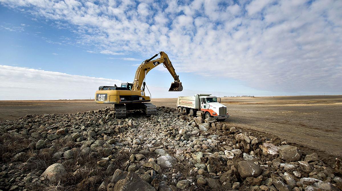 Excavator in North Dakota