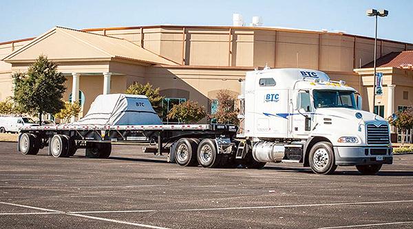 A Builders Transportation Co. truck