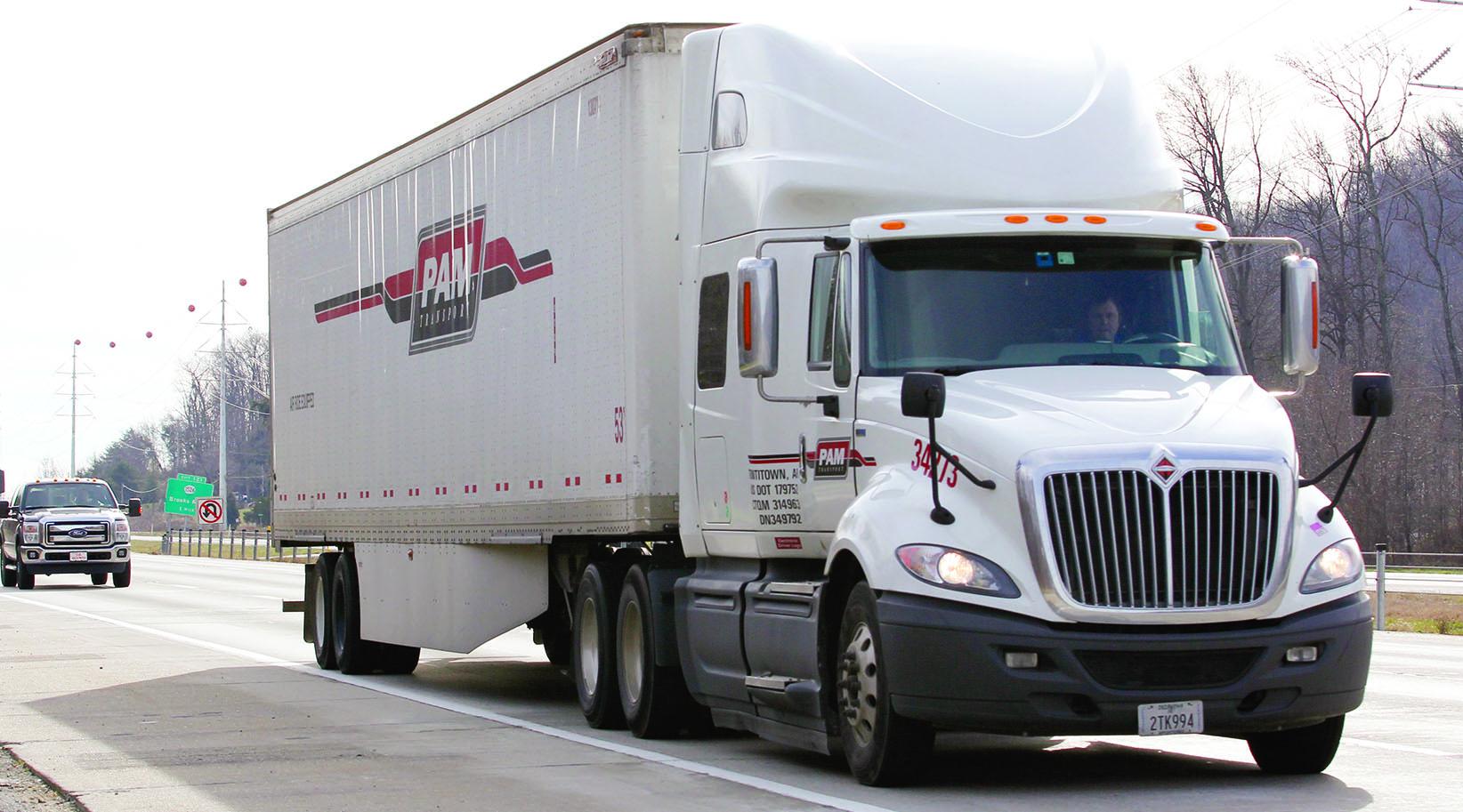P.A.M. Transport truck