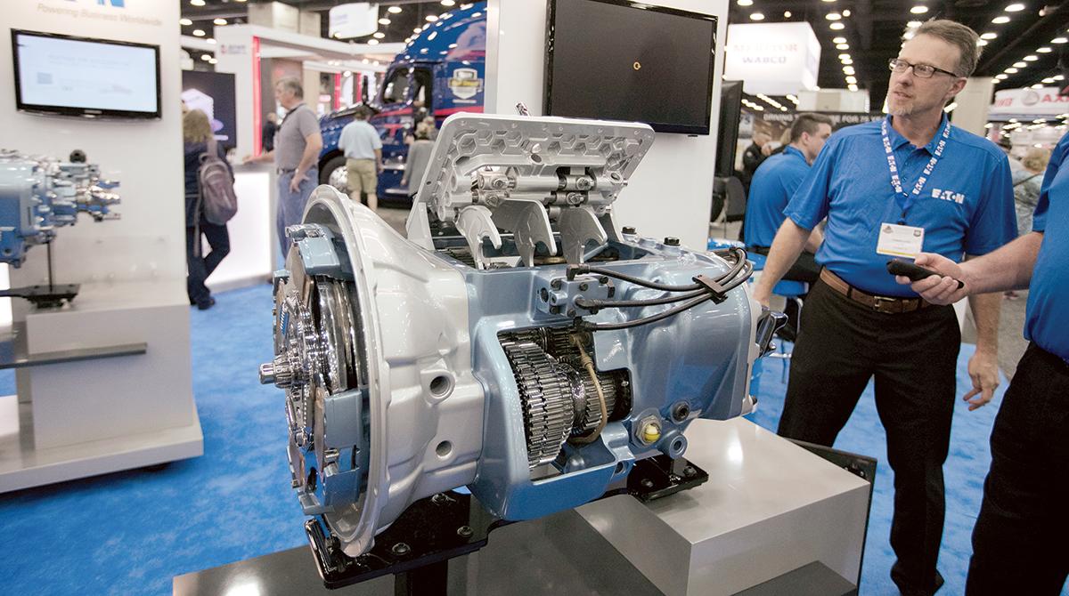 Eaton transmission at 2017 MATS