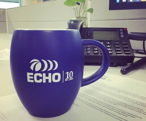Echo Global Logistics coffee mug