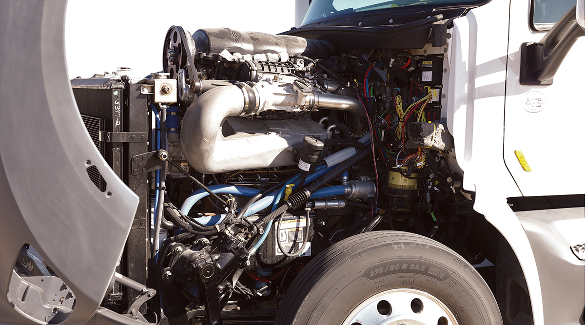 A 10.6 L -cylinder Achates installed in a Peterbilt 579