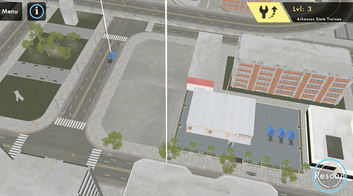 A screenshot from TMCSuperTech: The Game app