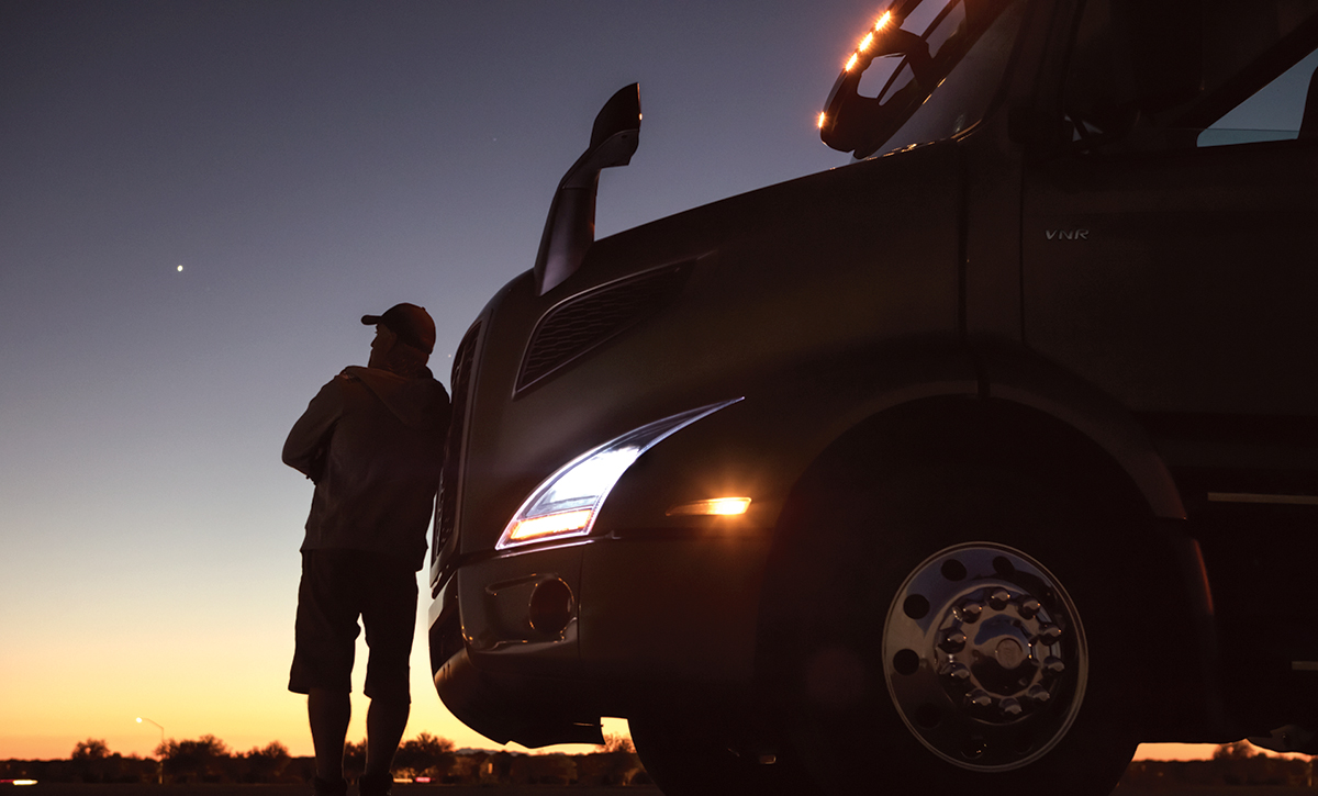 Volvo Trucks image showing LED headlights