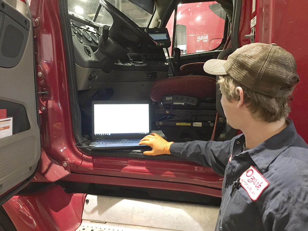 Ozark Motor Lines technician