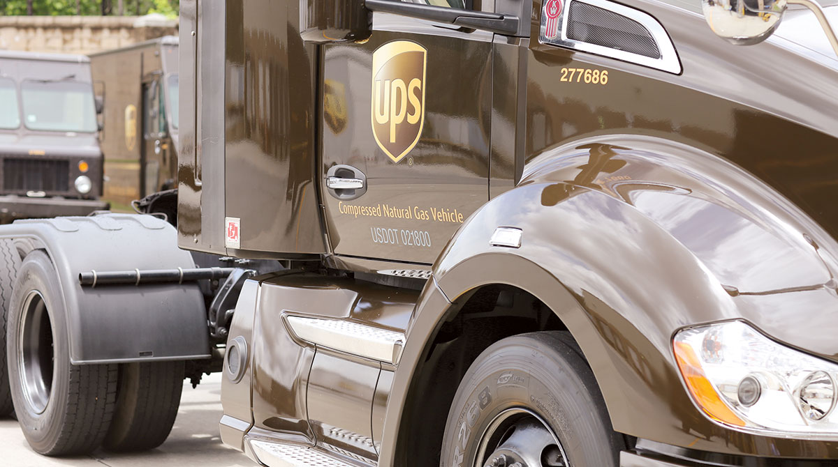 UPS natural gas tractor
