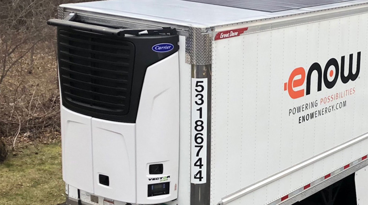 eNow refrigerated trailer