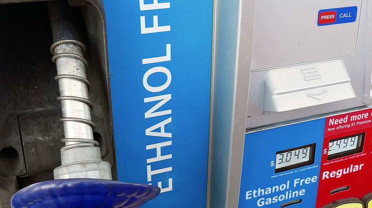 gas pump non-ethanol