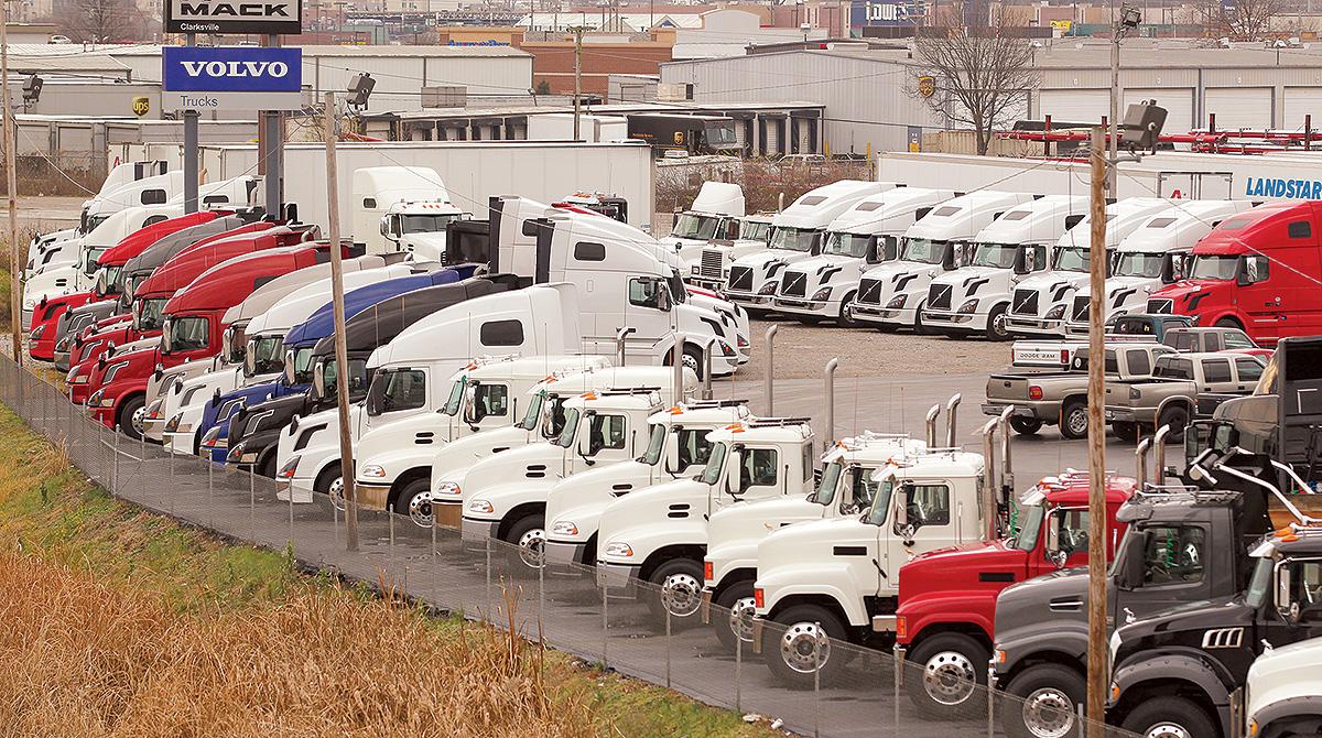 Trucks on Mack/Volvo lot