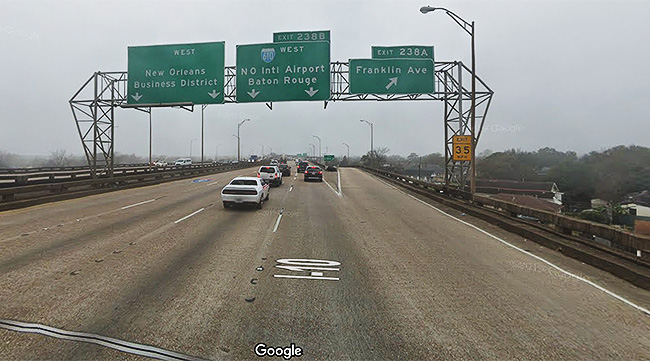 Interstate 10 in New Orleans