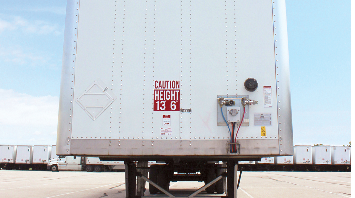 Xtra Lease trailer with cargo sensor