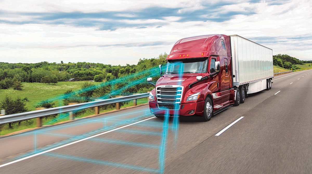 Truck with safety systems